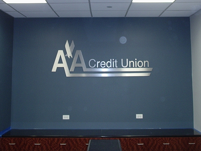 aa credit union flat cut letters