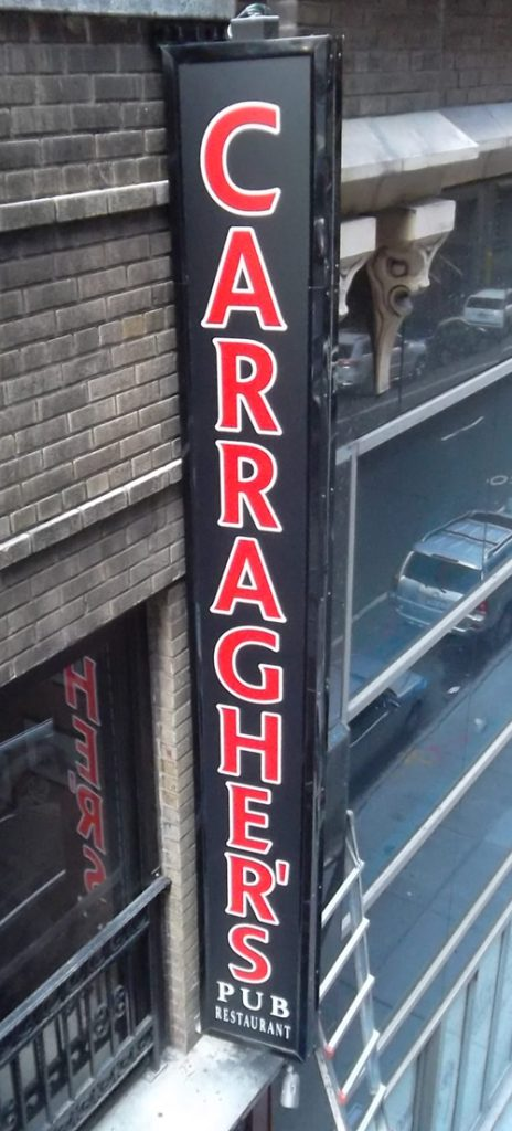 lightbox nyc Carragher's NYC Illuminated Sign