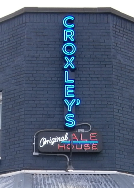 croxley's neon sign