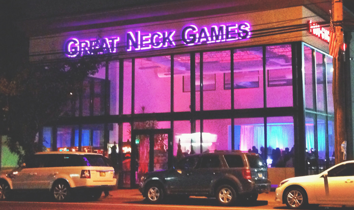 great neck games sign tee pee signs signage channel letters
