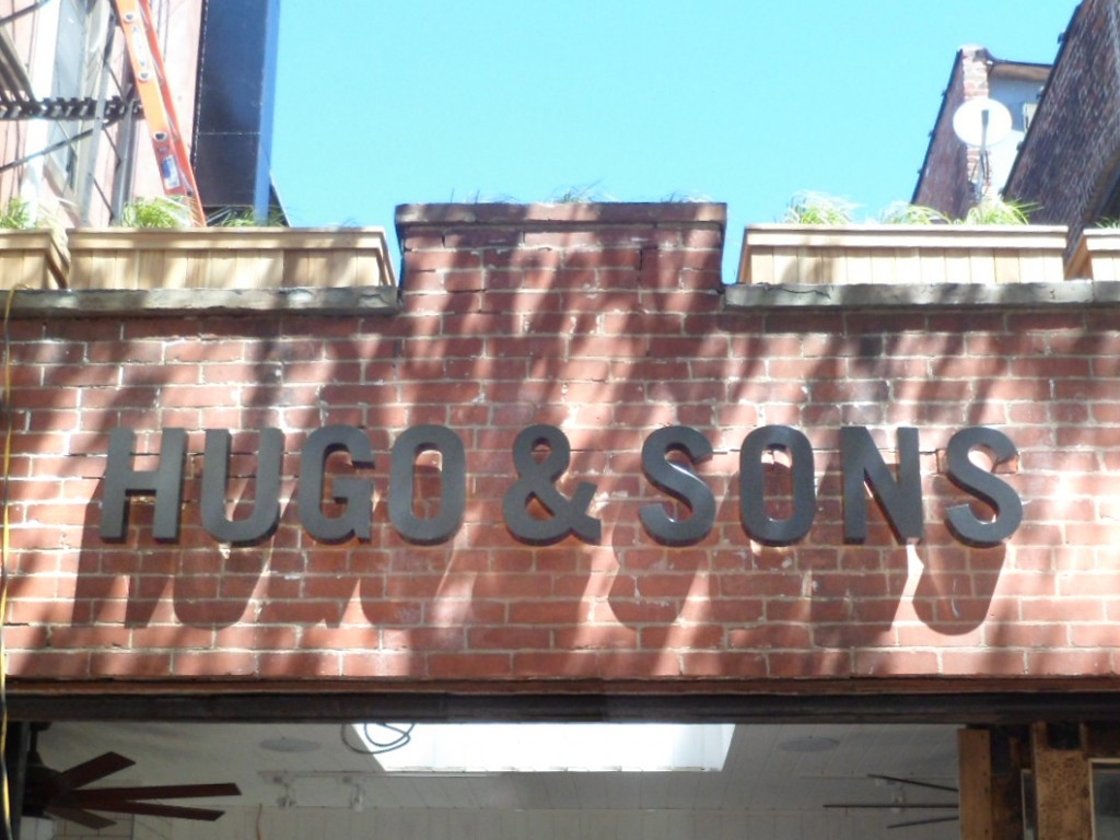 reverse channel letters nyc Hugo & Sons