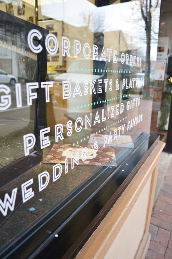 Lazar's Chocolate Storefront Graphics Vinyl Window Door Lettering