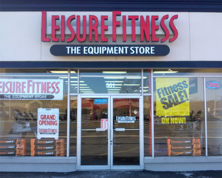 leisure fitness channel letters tee pee signs