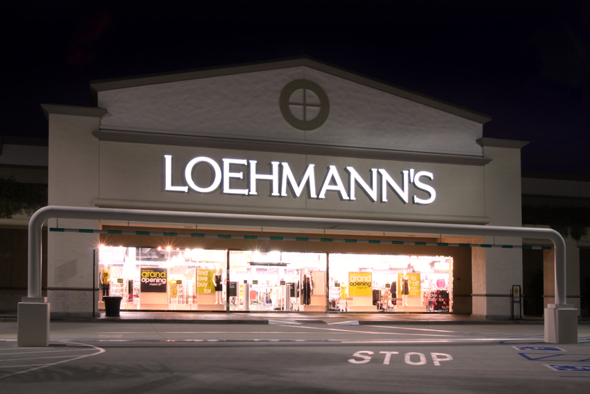 Loehmanns channel letters tee pee signs nyc new york long island