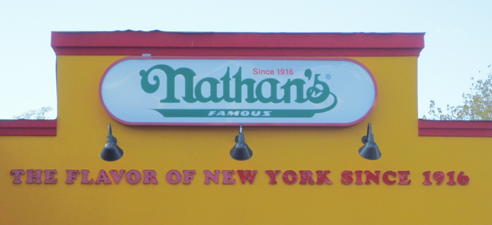 Nathan's famous hot dogs nyc
