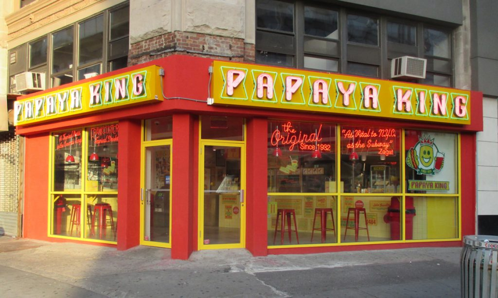 papaya king nyc channel letter signs neon
