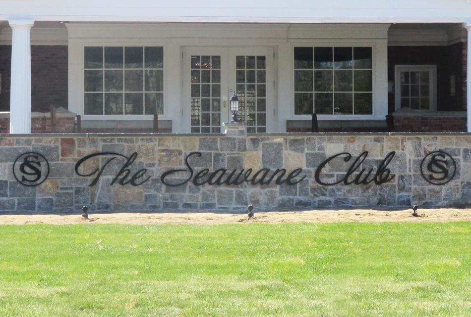 Seawane Club Flat Cut Letters