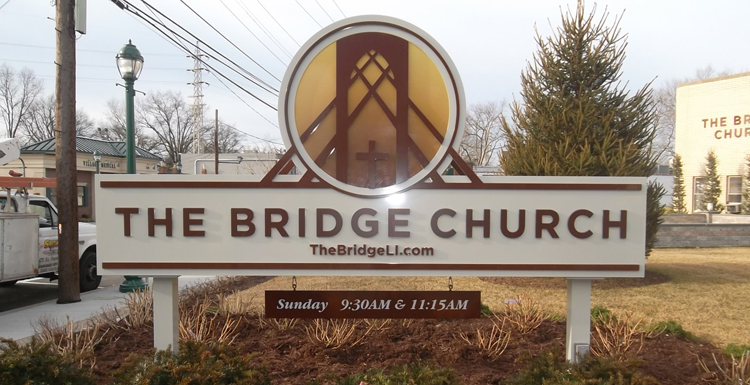 the bridge church sign ground sign tee pee signs
