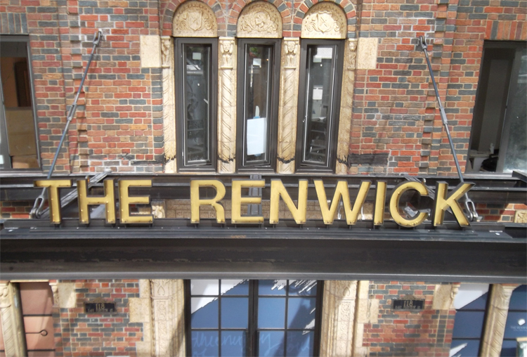 renwick hotel nyc sign tee pee signs blackened steel gold leaf channel letters