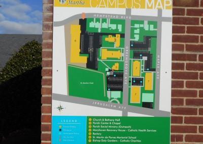 st martha's map tee pee signs wayfinding