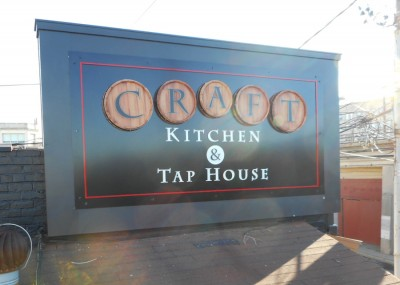 Craft Kitchen & Taphouse tee pee signs