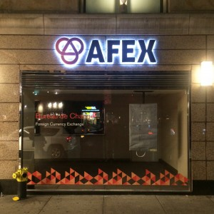 Afex NYC Channel Letters Window Graphics Tee Pee Signs