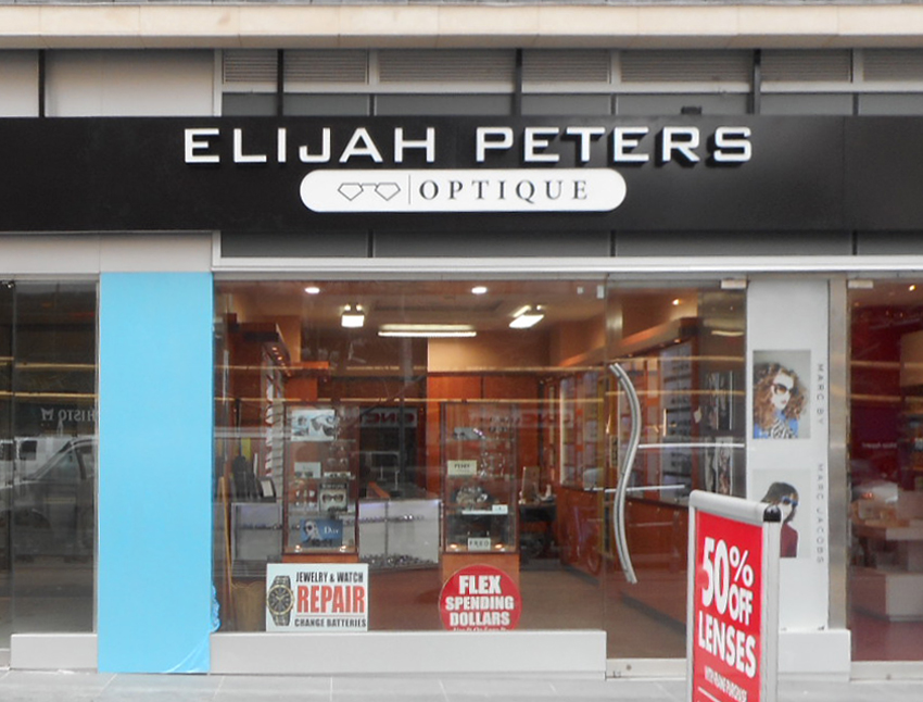 Elijah Peters Optique Channel Letters Tee Pee Signs NYC