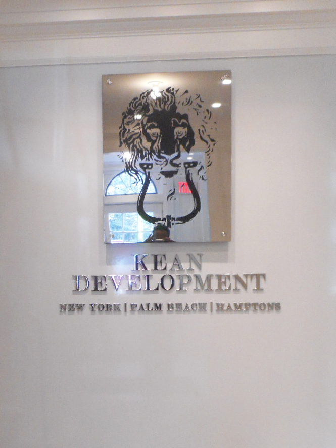 Kean Development Polished Stainless Steel Engraved Sign