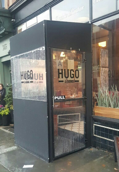 hugo & sons vestibule nyc tee pee signs