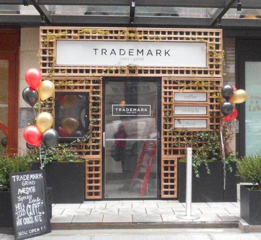 vestibule Trademark Taste & Grind Vestibule NYC Tee Pee Signs